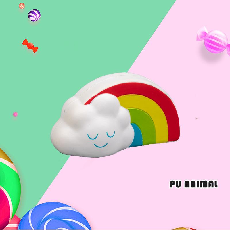 PU 动物玩具-彩虹云