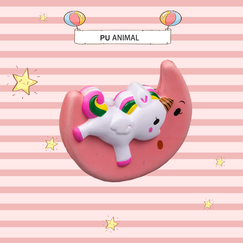 PU 动物玩具-月亮独角兽